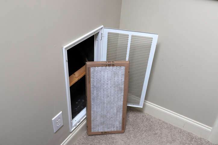 Replacing Filter For AC Maintenance In Auburn, CA