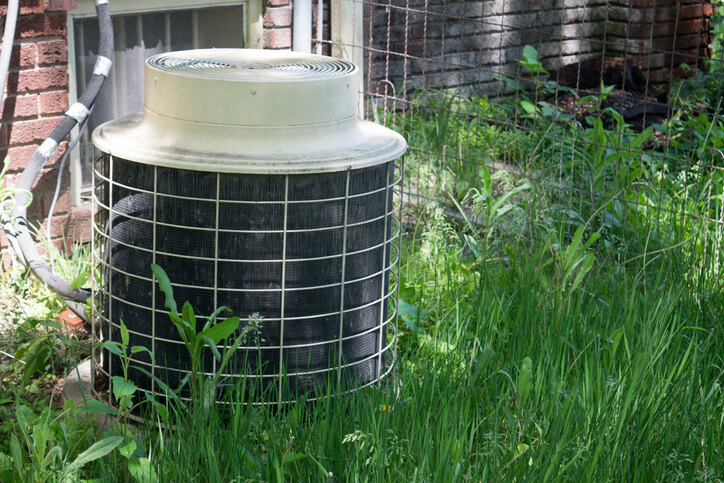 HVAC Unit Area In Need Of Landscaping